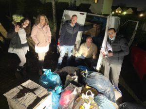 spontanen Winterhilfsprojektes für die Flüchtlinge und obdachlose Menschen in Armenien