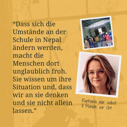Menschenfreude Nepal Zitat